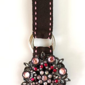 queenie brooch pink brown